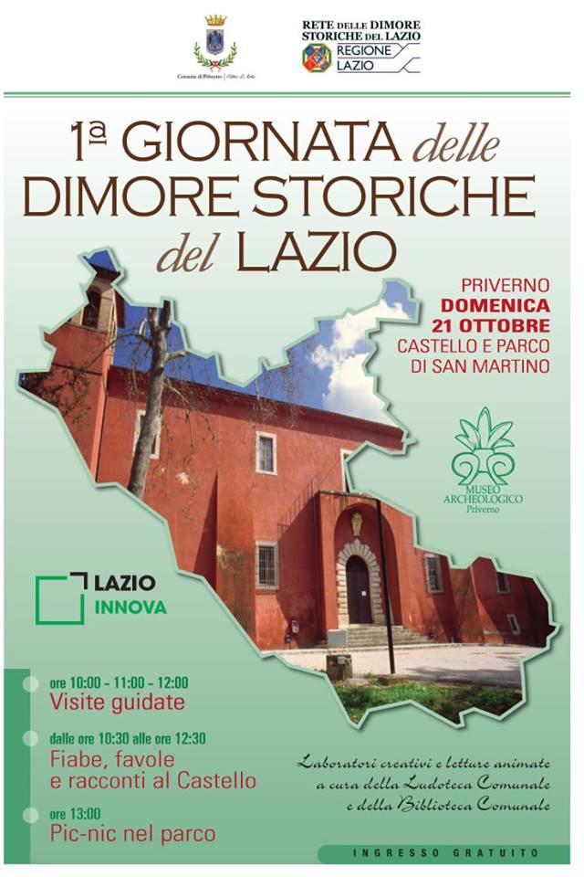 Priverno: 1° Giornata delle Dimore Storiche del Lazio @ Castello di San Martino | Priverno | Italia