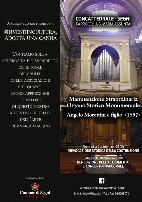 Segni: rievocazione storica della costruzione dell'Organo della Cattedrale e concerto inaugurale @ Cattedrale di Santa Maria Assunta, Segni | Lazio | Italia