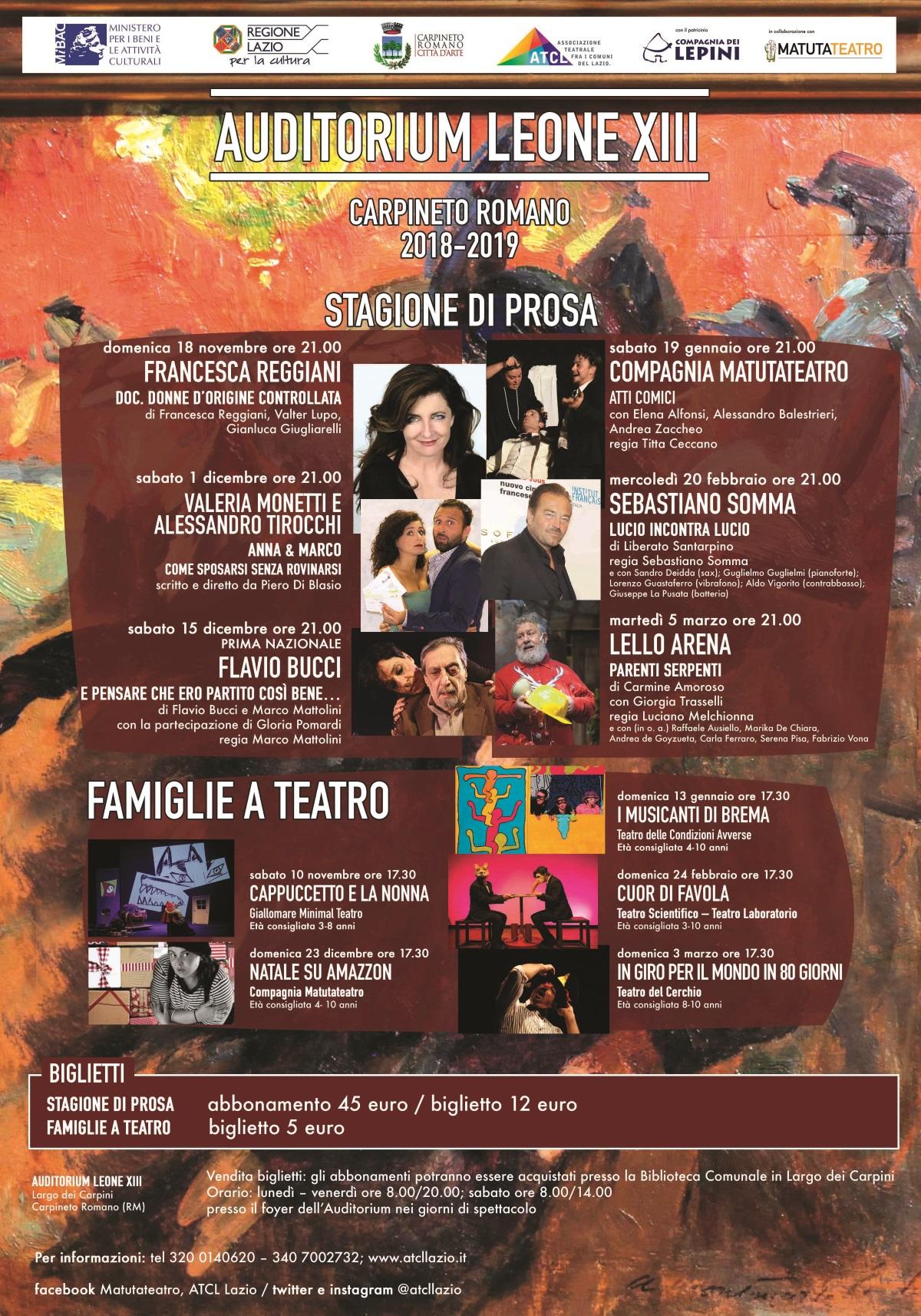 Carpineto Romano: Famiglie a teatro @ Auditorium Leone XIII | Carpineto Romano | Lazio | Italia