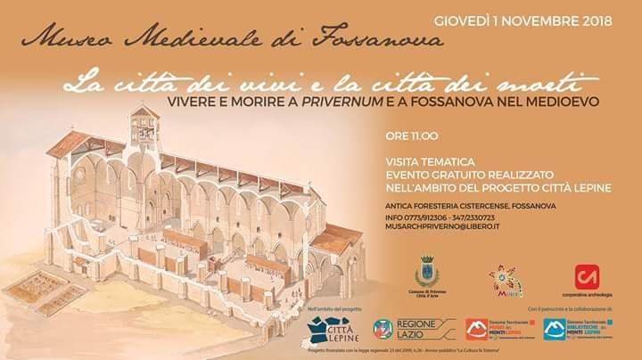 Fossanova: La città dei vivi e la città dei morti @ Museo Medievale di Fossanova | Priverno | Lazio | Italia
