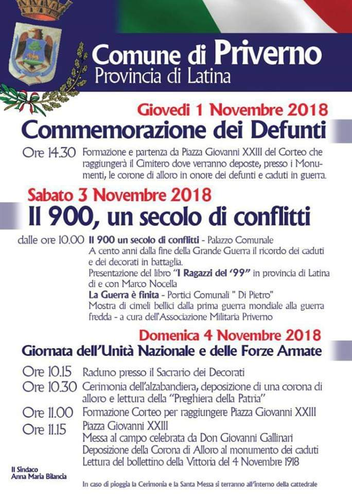 Priverno: Commemorazione dei Defunti @ Piazza Giovanni XXIII | Priverno | Lazio | Italia