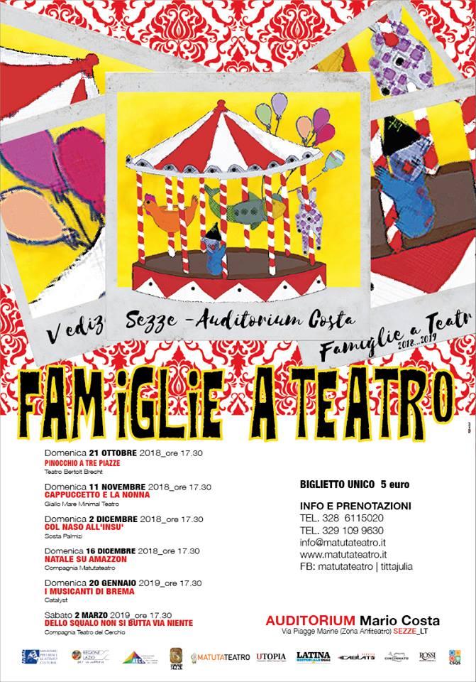 Sezze: Famiglie al Teatro @ Auditorium Mario Costa | Sezze | Lazio | Italia