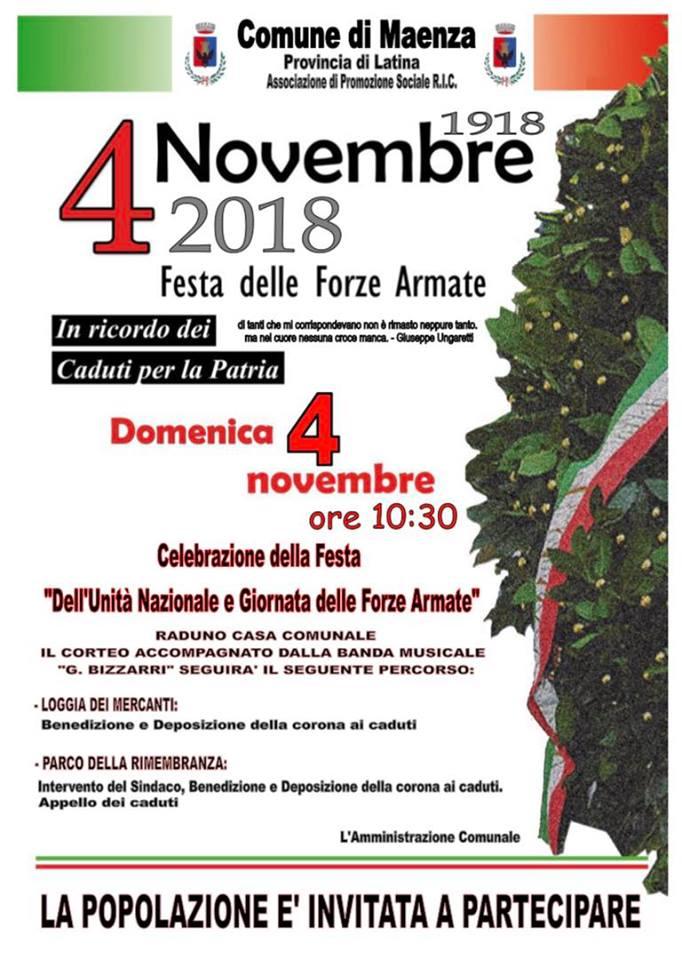Maenza: Festa delle forze armate @ Maenza | Lazio | Italia