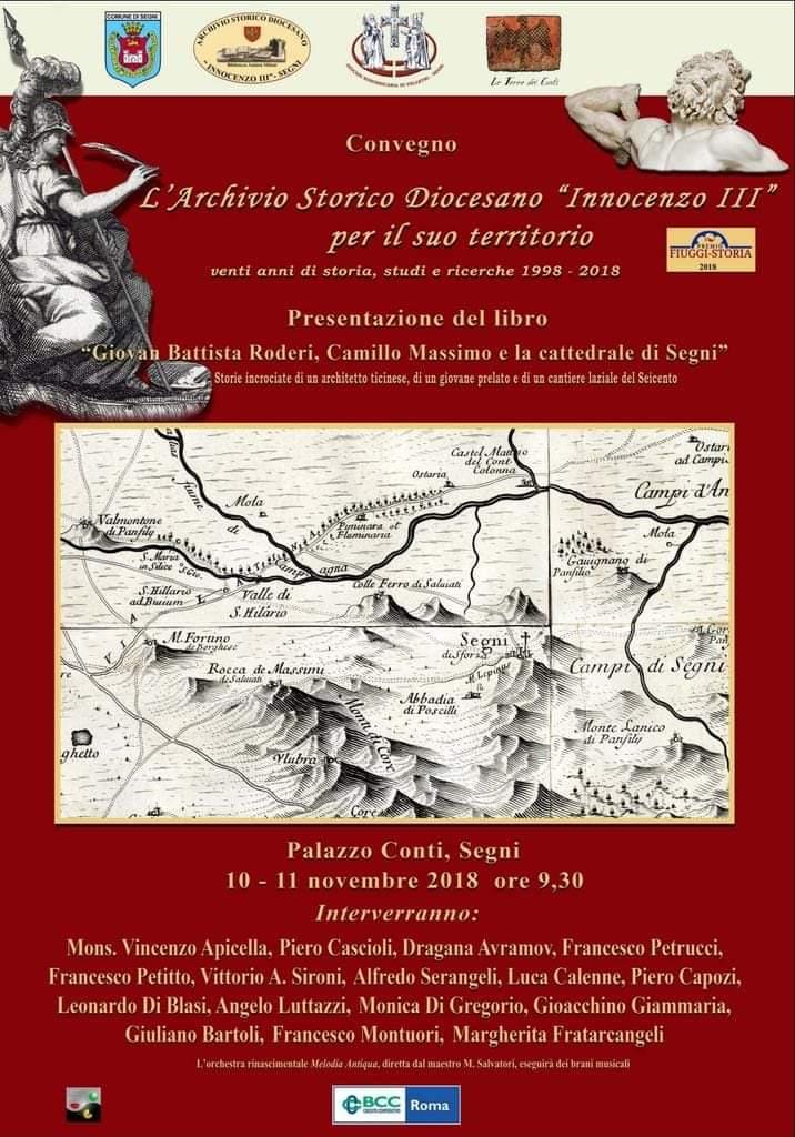 Segni: convegno e presentazione libro @ Palazzo Conti, Segni | Lazio | Italia