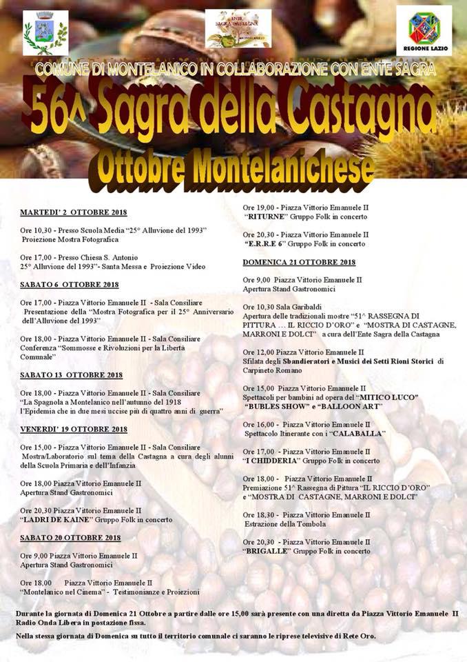 Montelanico: 56° Sagra della Castagna @ Montelanico  | Montelanico | Lazio | Italia
