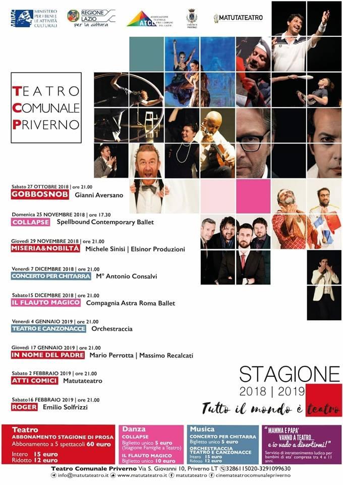 Priverno: Tutto il mondo è teatro @ Teatro Comunale Priverno | Priverno | Lazio | Italia