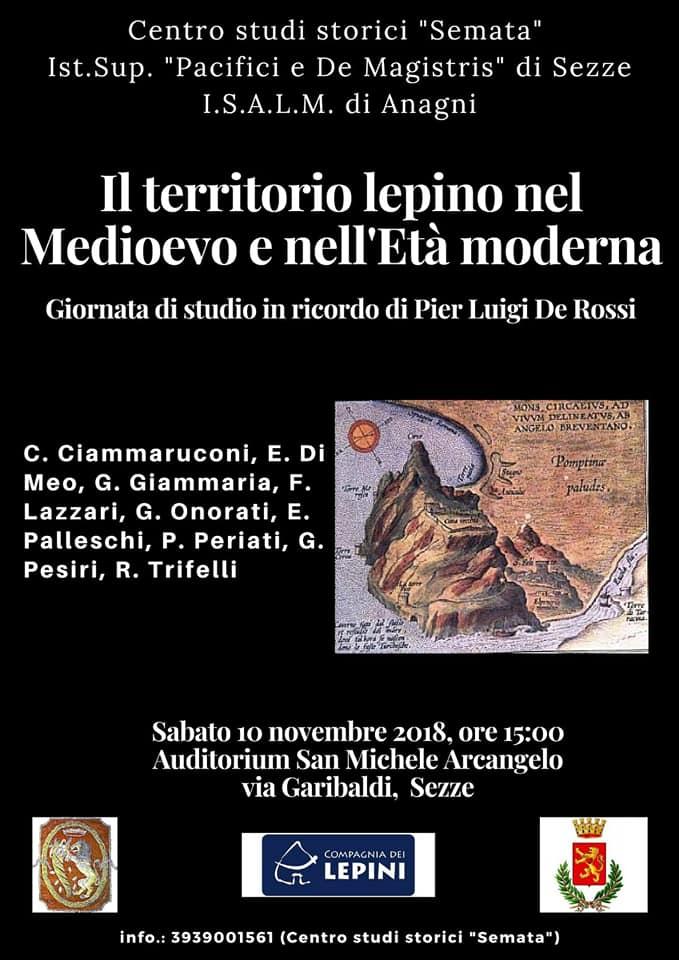 Sezze: Il territorio lepino dal Medioevo all'Età Moderna @ Auditorium San Michele Arcangelo | Sezze | Lazio | Italia