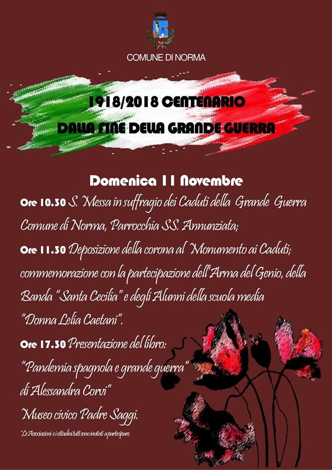 Norma: 1918/2018 Centenario dalla fine della Grande Guerra @ Norma | Lazio | Italia