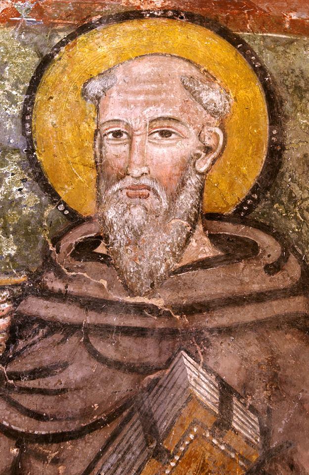 Sant'Antonio Abate Affresco, part. - Bassiano. Chiesa di S. Maria della Piazza Autore ignoto, XV secolo