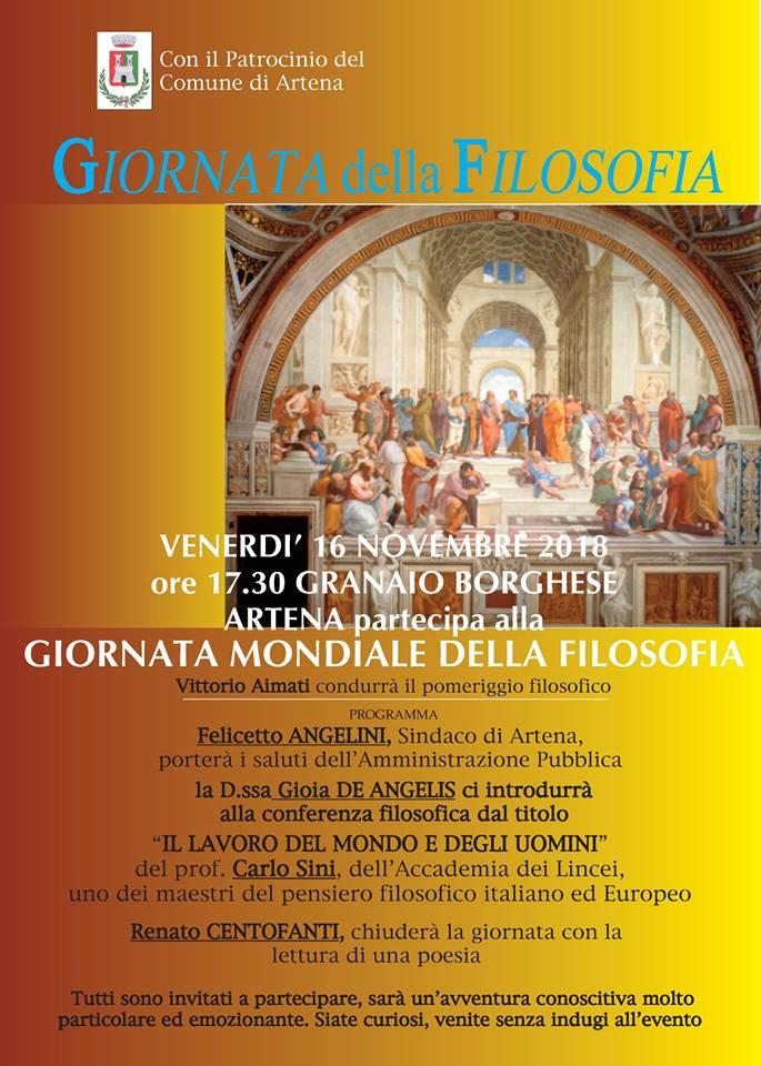 Artena: Giornata della filosofia @ Granaio Borghese | Artena | Lazio | Italia