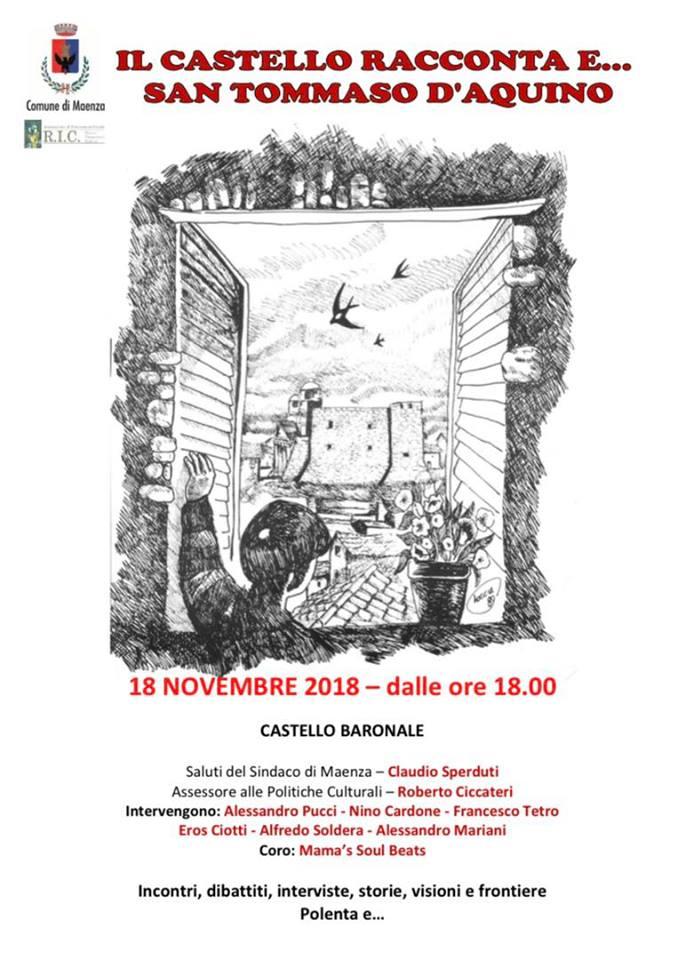 Maenza: Il Castello racconta e... San Tommaso d'Aquino @ castello baronale | Maenza | Lazio | Italia