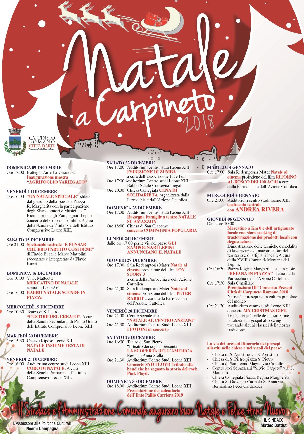 Natale 2018 a Carpineto @ Carpineto Romano | Lazio | Italia