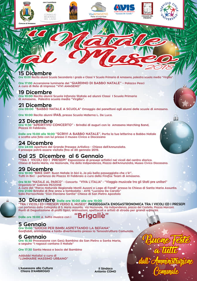 Amaseno: Il Natale al Museo @ Amaseno | Lazio | Italia