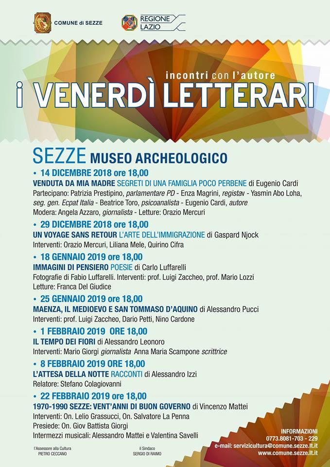 Sezze: I Venerdì Letterari @ Museo Archeologico | Sezze | Lazio | Italia