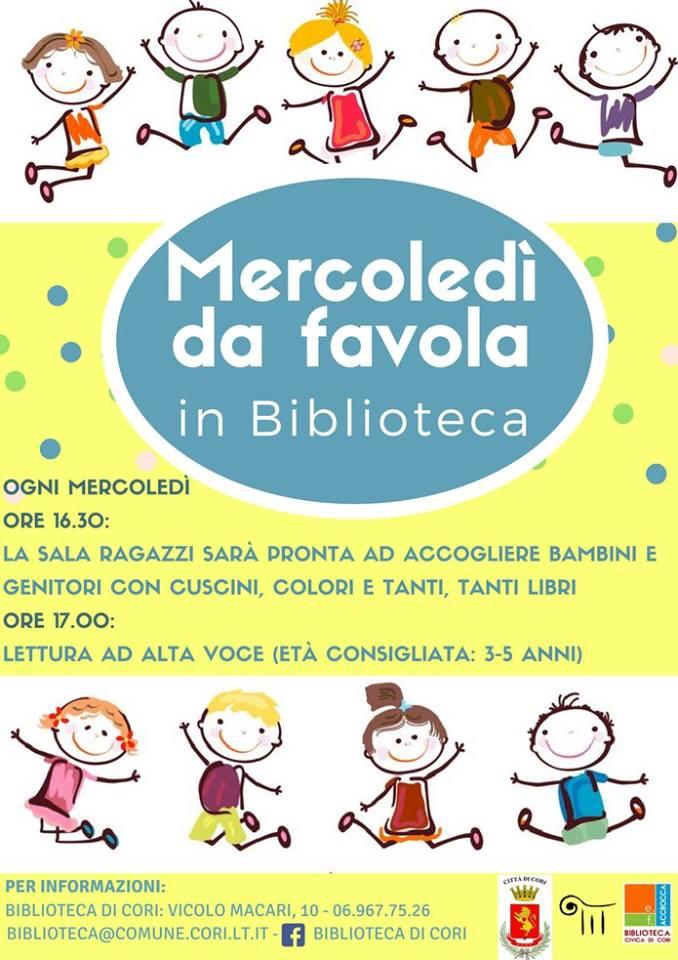 Cori: Mercoledì da favola! @ Biblioteca civica E.F. Accrocca di Cori | Cori | Lazio | Italia