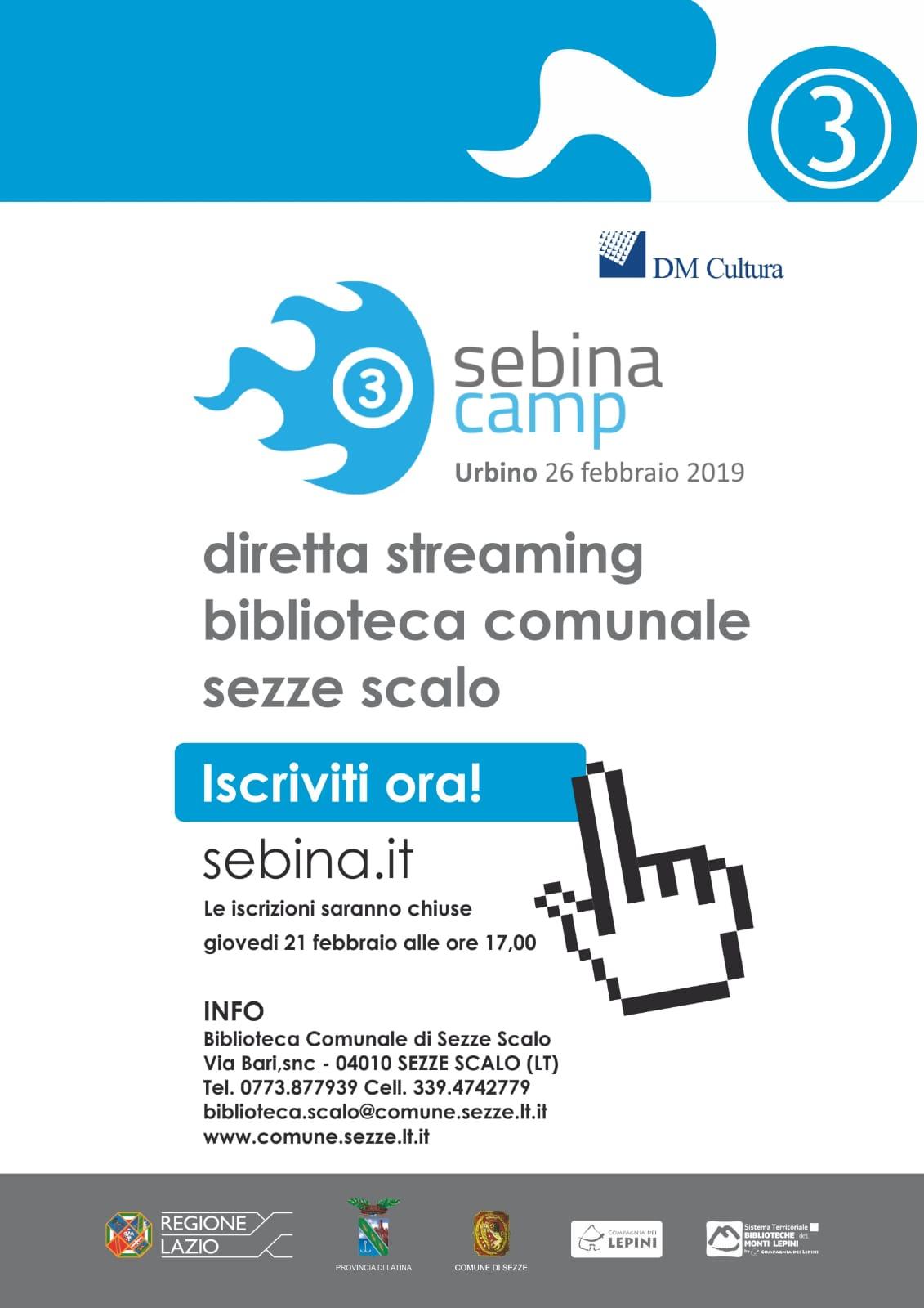 Sezze: Sebina Camp @ biblioteca comunale V. Flacco | Sezze Scalo | Lazio | Italia