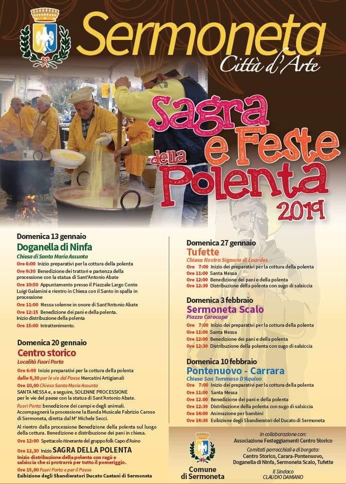 Sermoneta città d'arte: Sagra e feste della polenta 2019 @ Sermoneta | Lazio | Italia