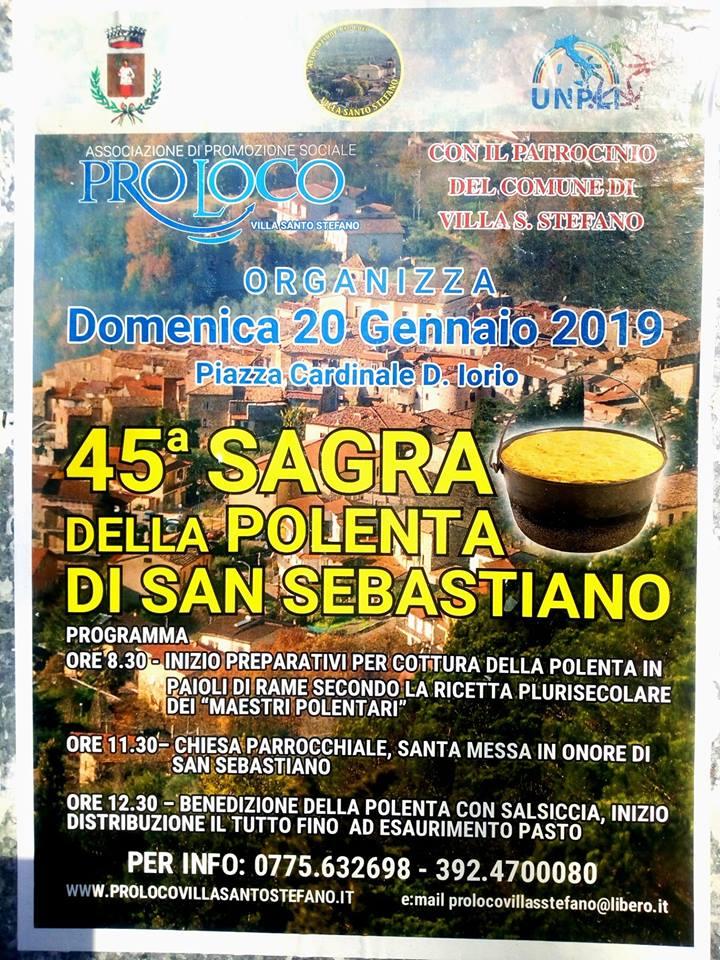 Villa Santo Stefano: Sagra della polenta 2019 @ Piazza Cardinale D. Iorio | Prossedi | Lazio | Italia