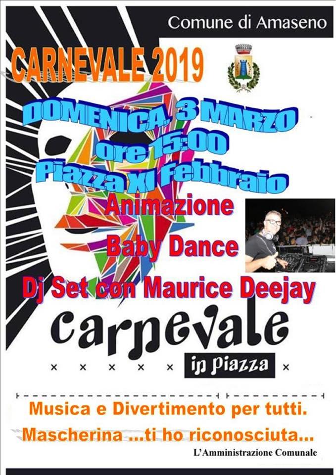 Amaseno: Carnevale 2019 @ piazza XI Febbraio | Amaseno | Lazio | Italia