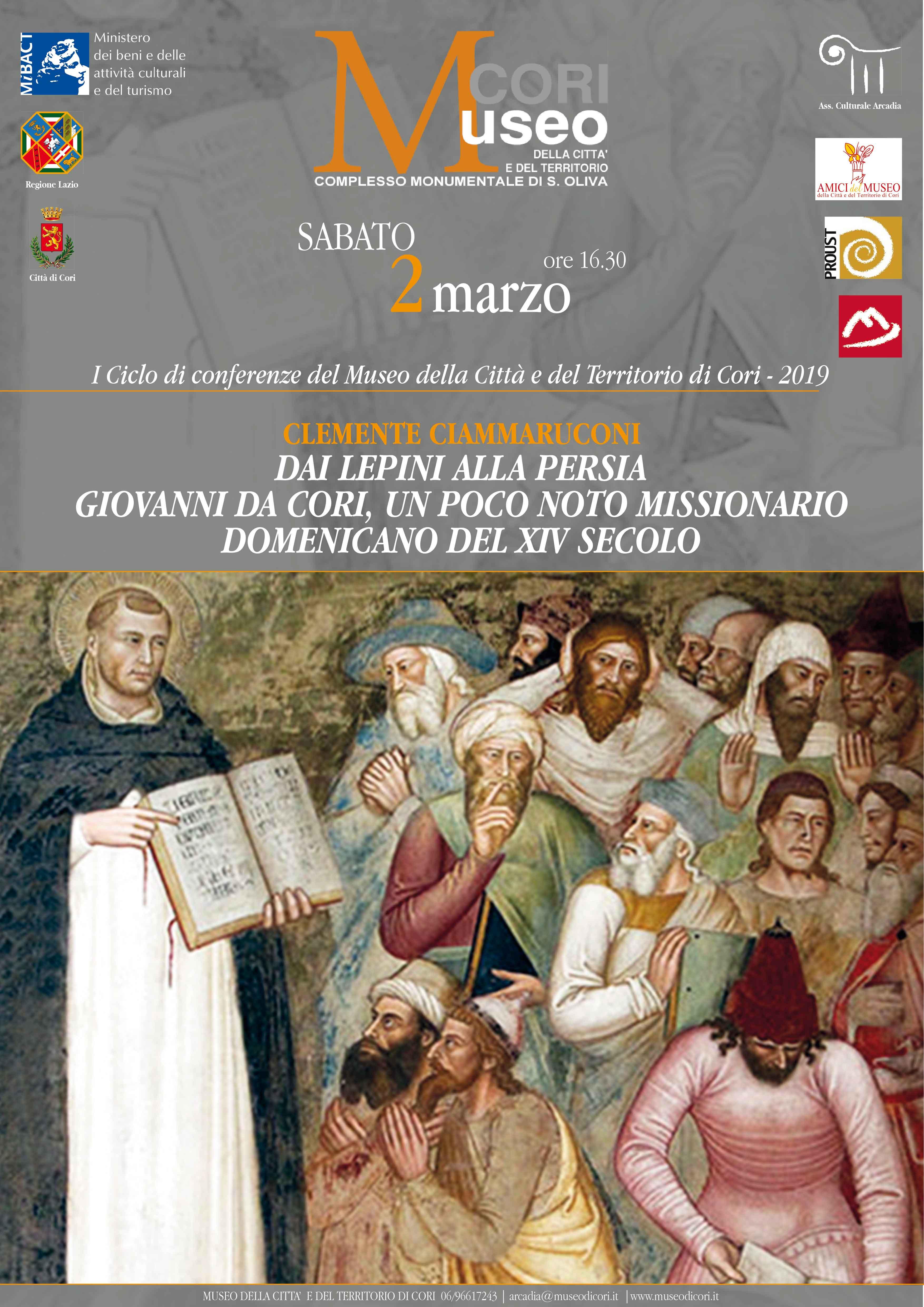 Cori: Clemente Ciammaruconi @ Museo della città e del territorio | Cori | Lazio | Italia