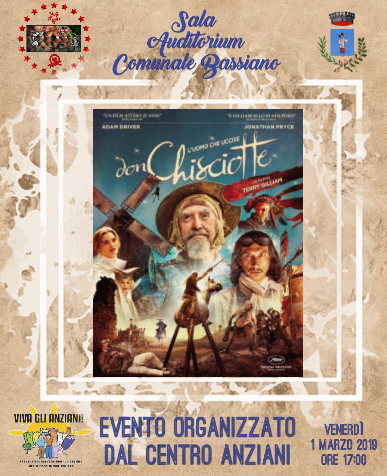 Bassiano: L'uomo che uccise Don Chisciotte @ Sala auditorium comunale | Bassiano | Lazio | Italia