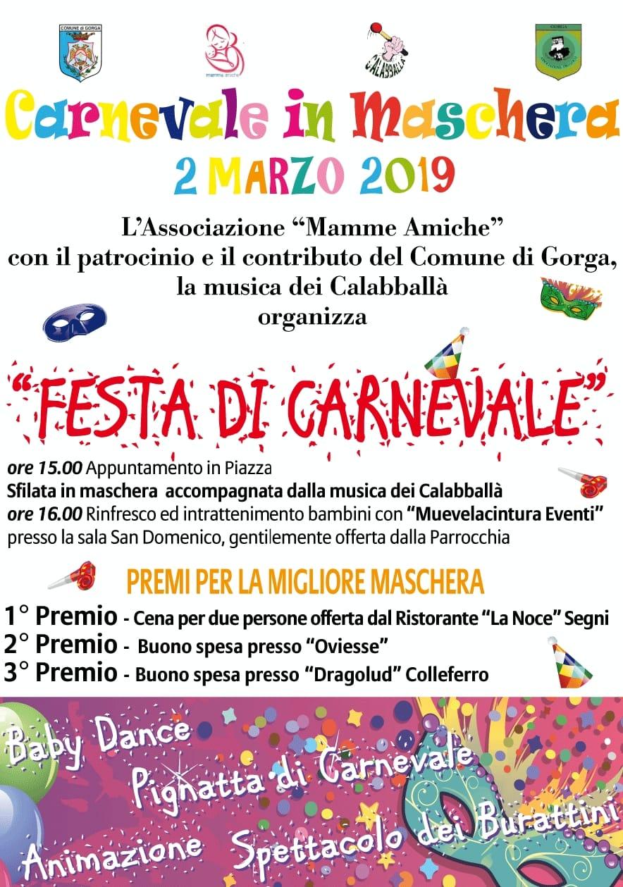 Gorga: Carnevale in maschera @ piazza | Gorga | Lazio | Italia