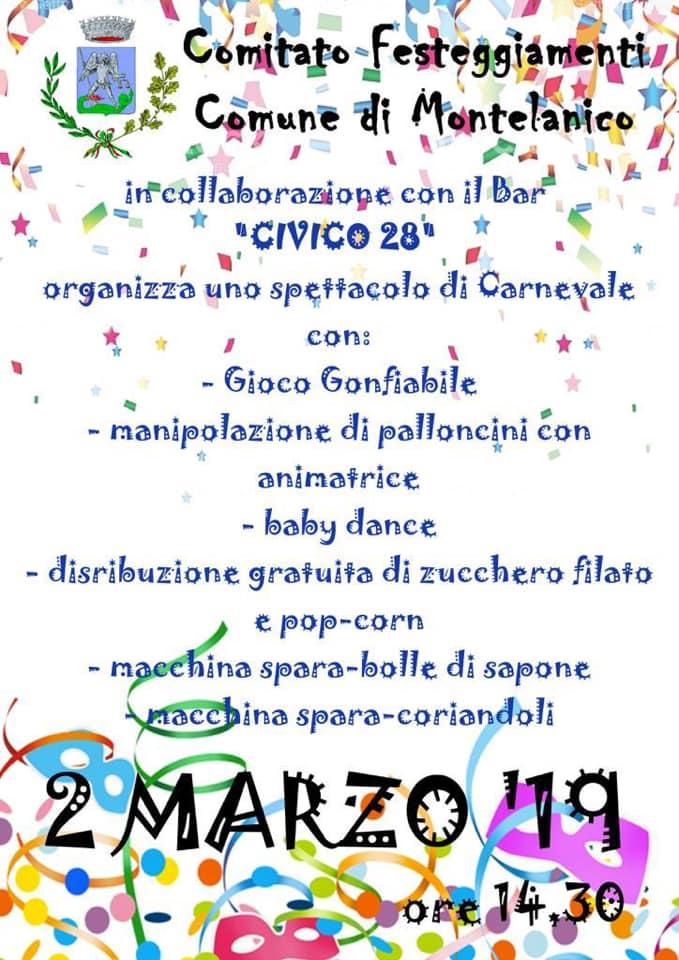 Montelanico: spettacolo di Carnevale @ Montelanico | Lazio | Italia