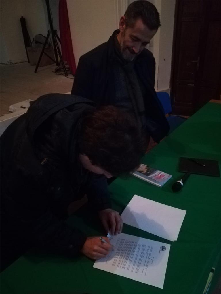Firma del presidente della Compagnia dei Lepini - Quirino Briganti