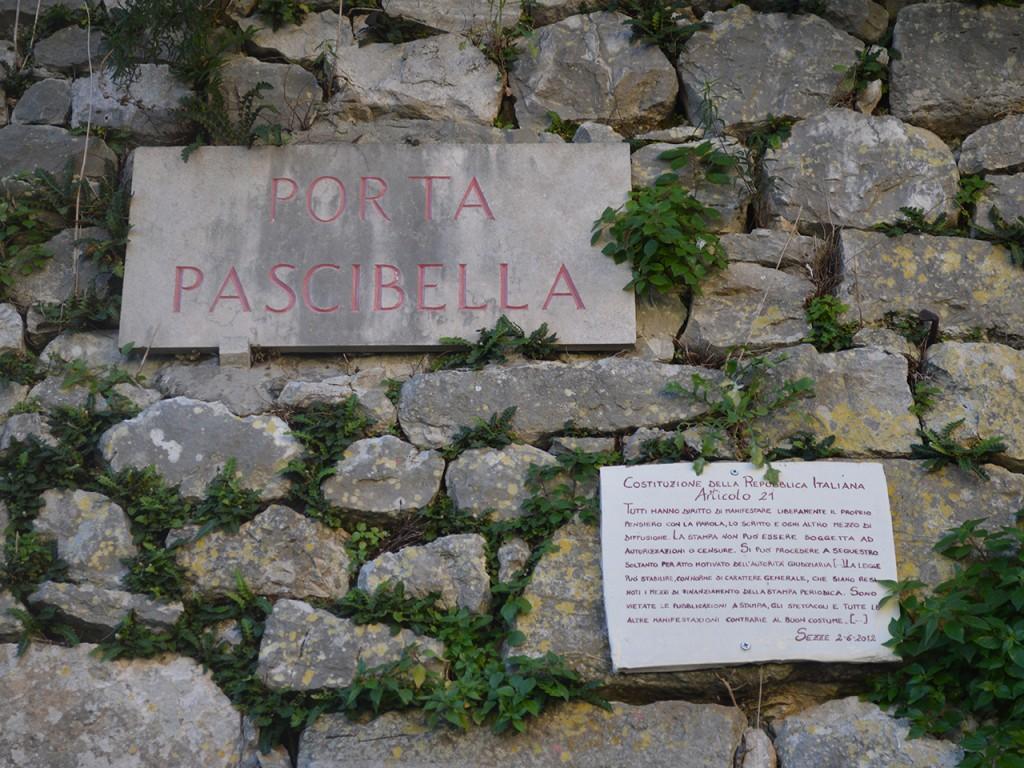 Targa Porta Pascibella