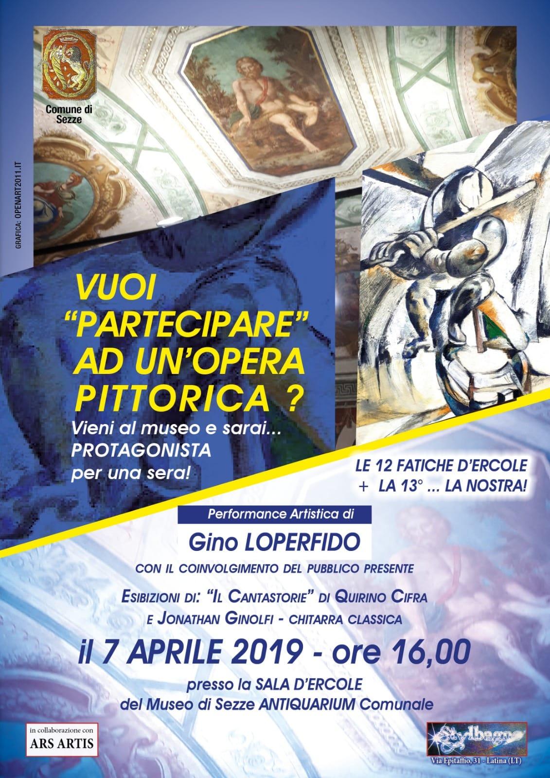 Sezze: Vuoi partecipare ad un'opera pittorica? @ sala d'ercole - museo antiquarium | Sezze | Lazio | Italia