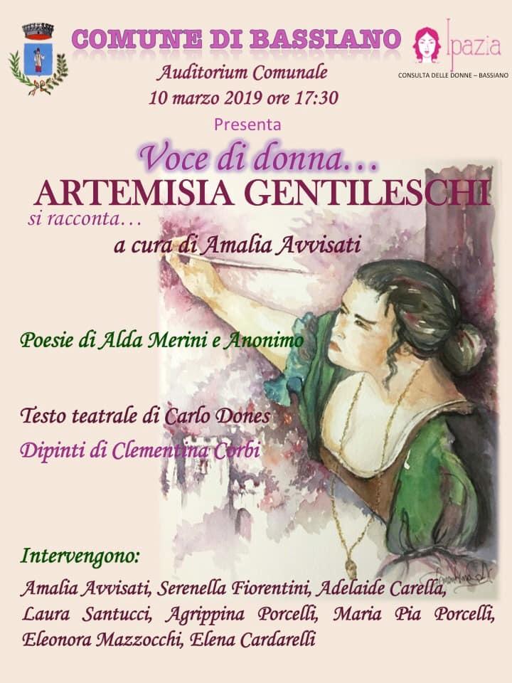 Bassiano: Voce di donna...Artemisia Gentileschi @ Auditorium comunale | Bassiano | Lazio | Italia
