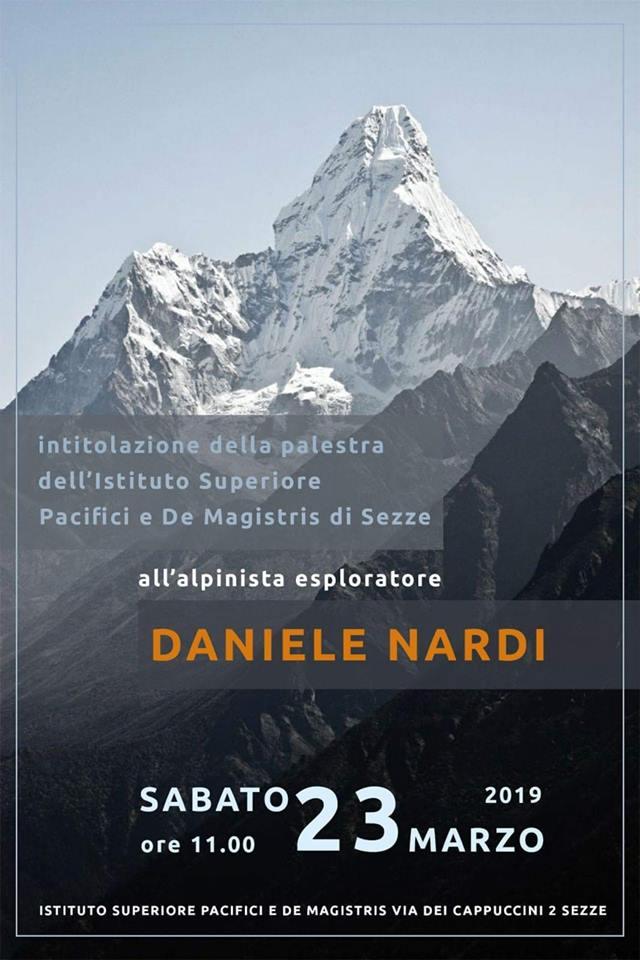 Sezze: L'intitolazione della palestra dell'Istituto Superiore Pacifici e De Magistris a Daniele Nardi @ Istituto superiore Pacifici e De Magistris | Sezze | Lazio | Italia