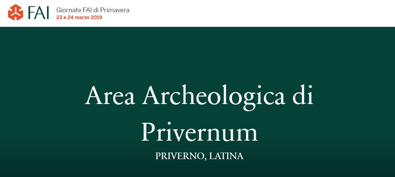 Priverno: Giornate FAI di primavera @ Area archeologica di Privernum | Priverno | Lazio | Italia
