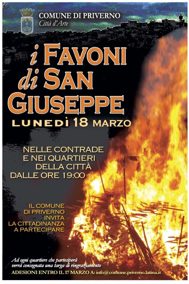 Priverno: I favoni di San Giuseppe @ nelle contrade e nei quartieri della città | Priverno | Lazio | Italia