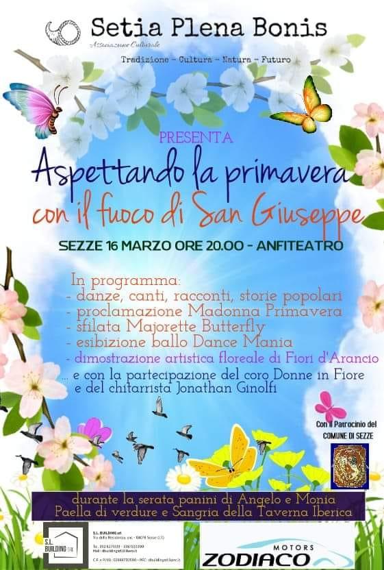 Sezze: Aspettando la primavera con il fuoco di San Giuseppe @ anfiteatro | Sezze | Lazio | Italia
