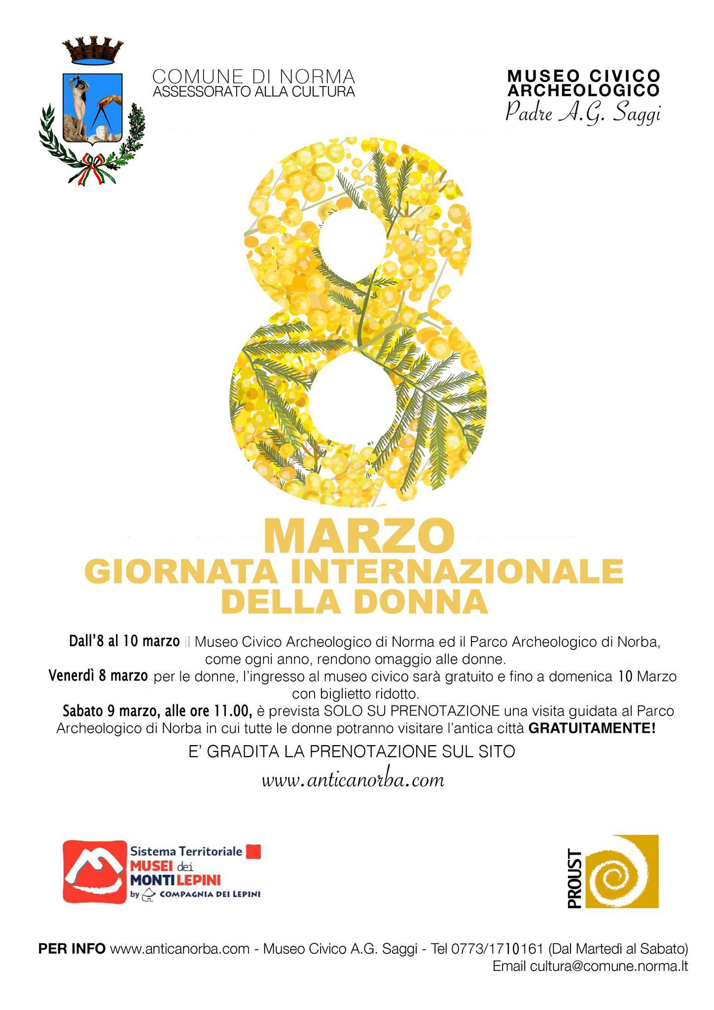 Norma: Giornata internazionale della donna @ Museo Civico Archeologico | Norma | Lazio | Italia