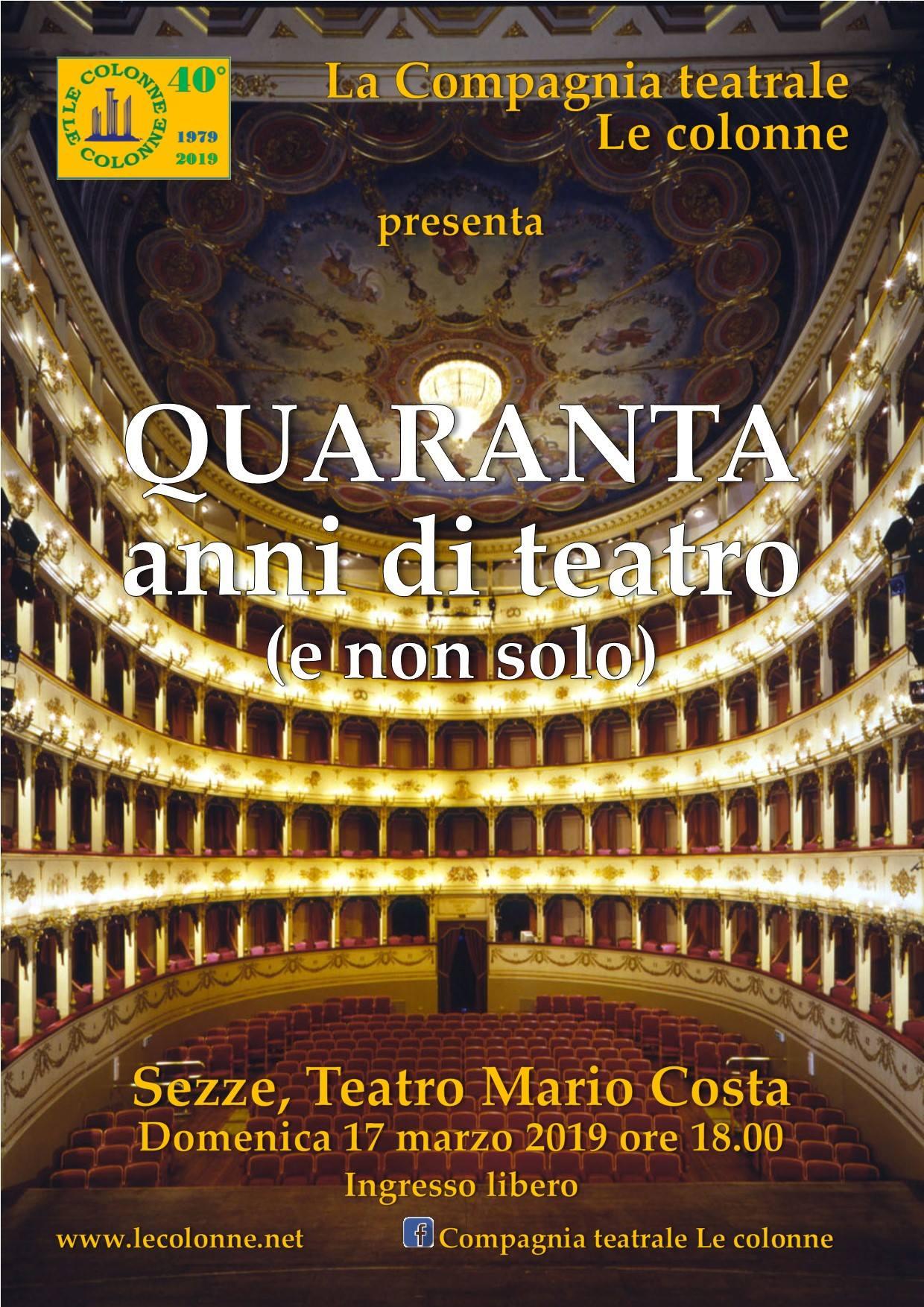 Sezze: Quaranta anni di teatro (e non solo) @ teatro Mario Costa | Lazio | Italia