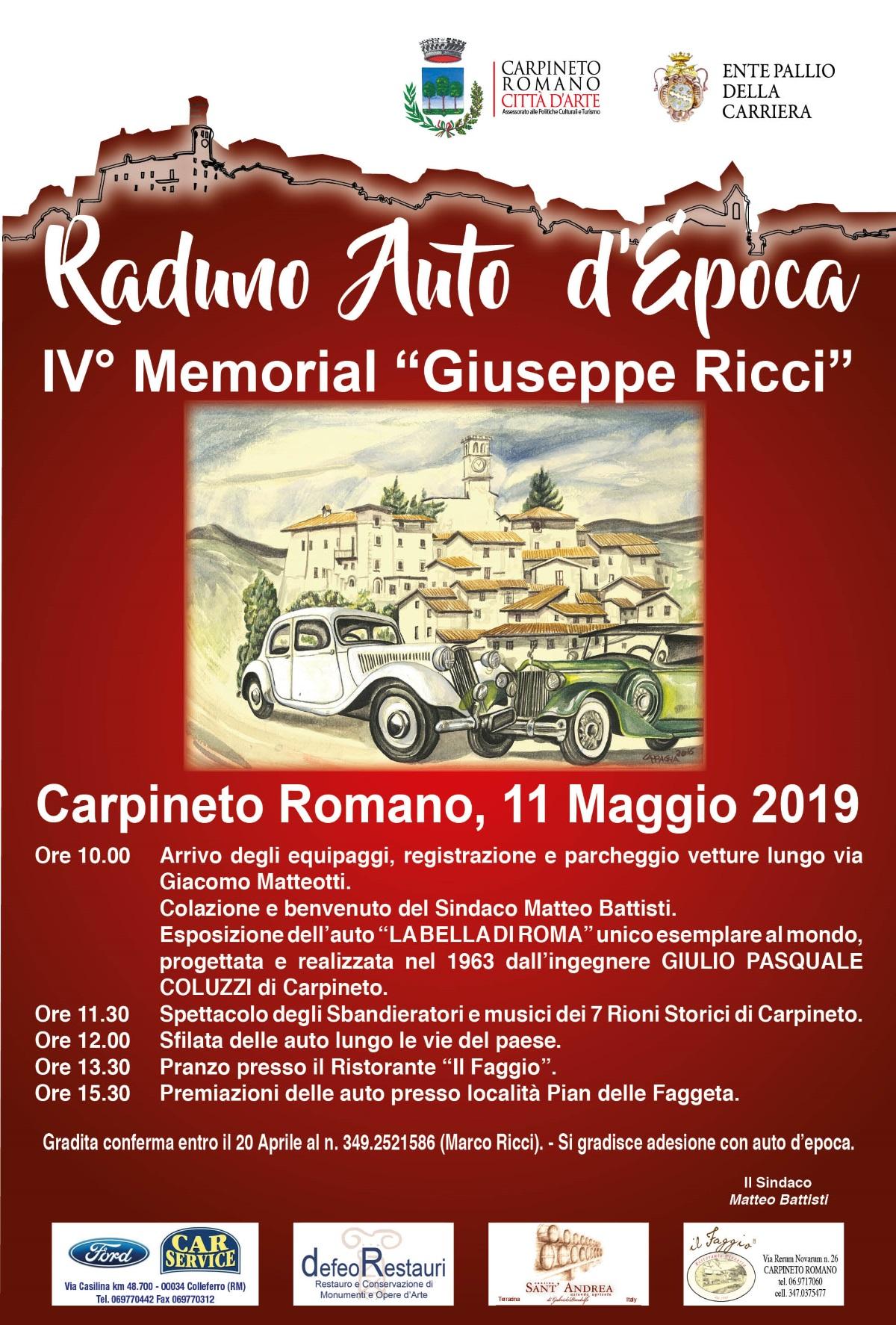 Carpineto Romano: Raduno Auto d'Epoca @ via Giacomo Matteotti | Carpineto Romano | Lazio | Italia
