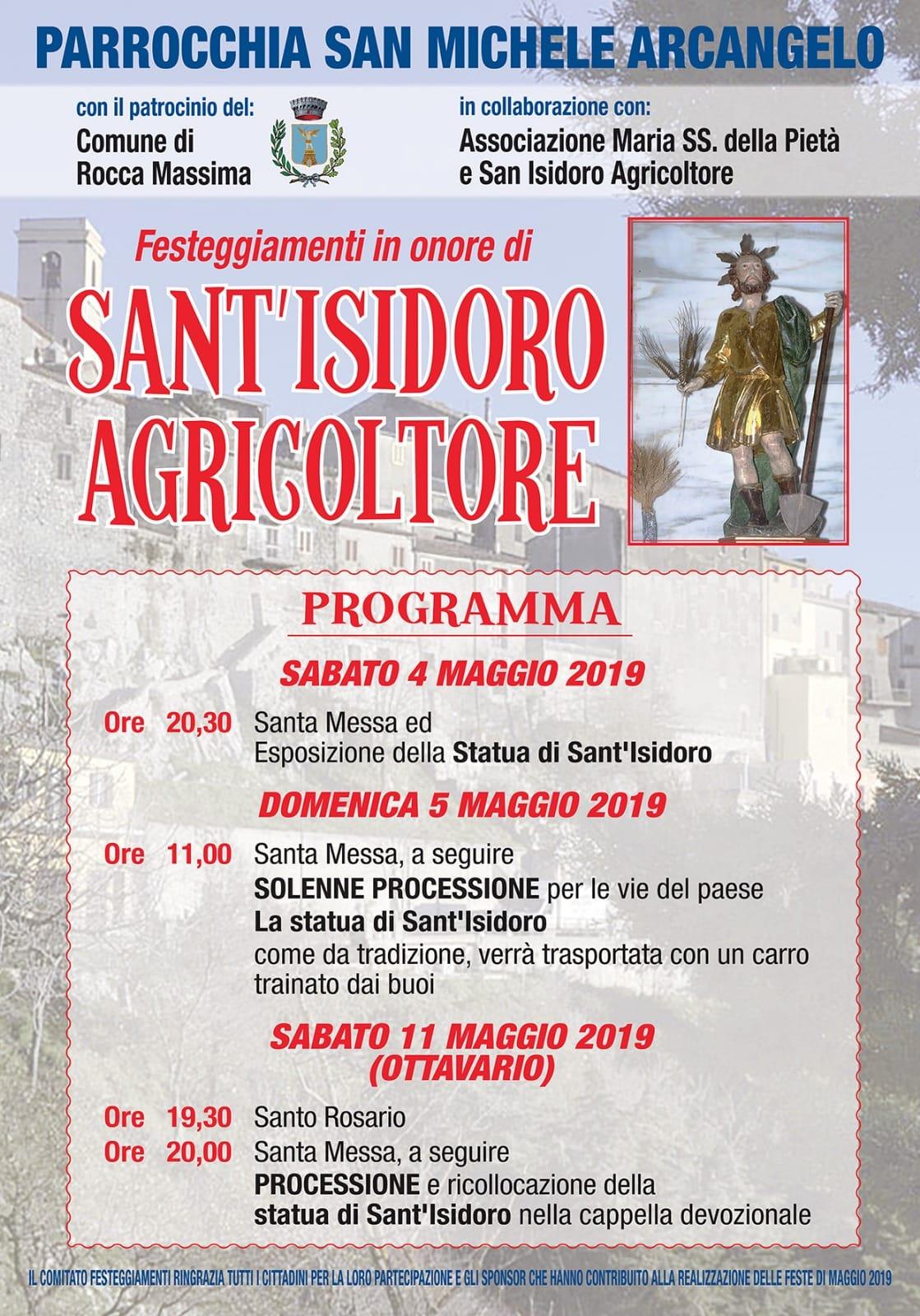 Rocca Massima: Festeggiamenti in onore di Sant'Isidoro Agricoltore @ per le vie del paese | Rocca Massima | Lazio | Italia