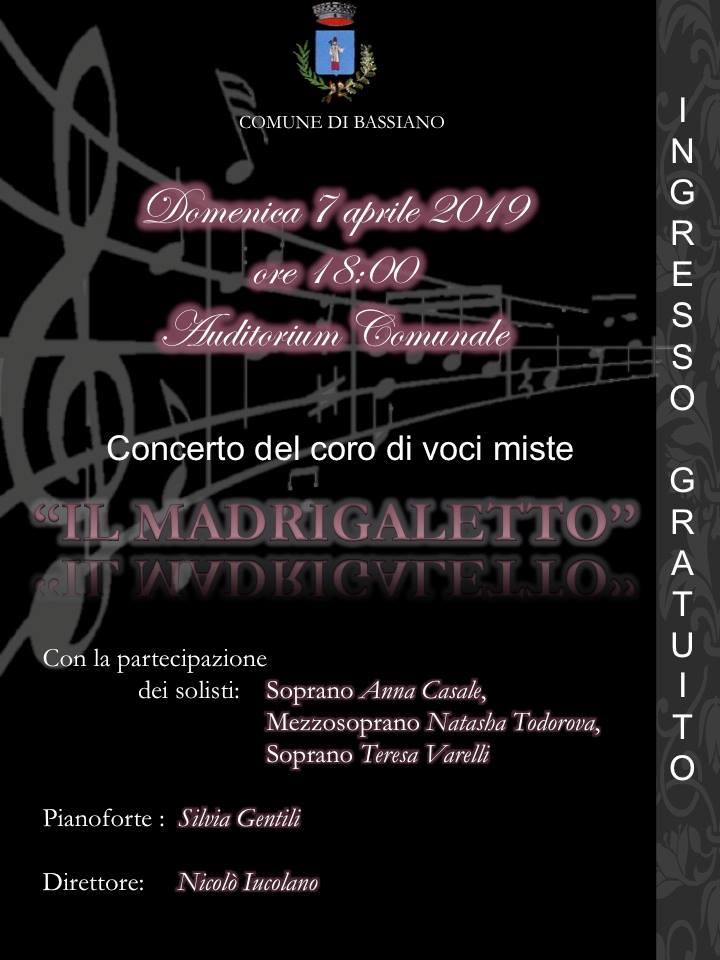Bassiano: Il Madrigaletto @ auditorium comunale | Bassiano | Lazio | Italia