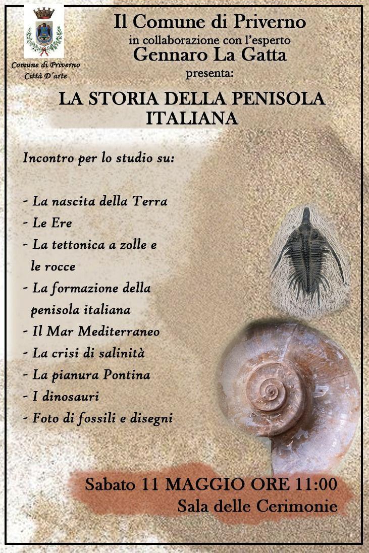 Priverno: La storia della penisola italiana @ sala delle cerimonie | Priverno | Lazio | Italia