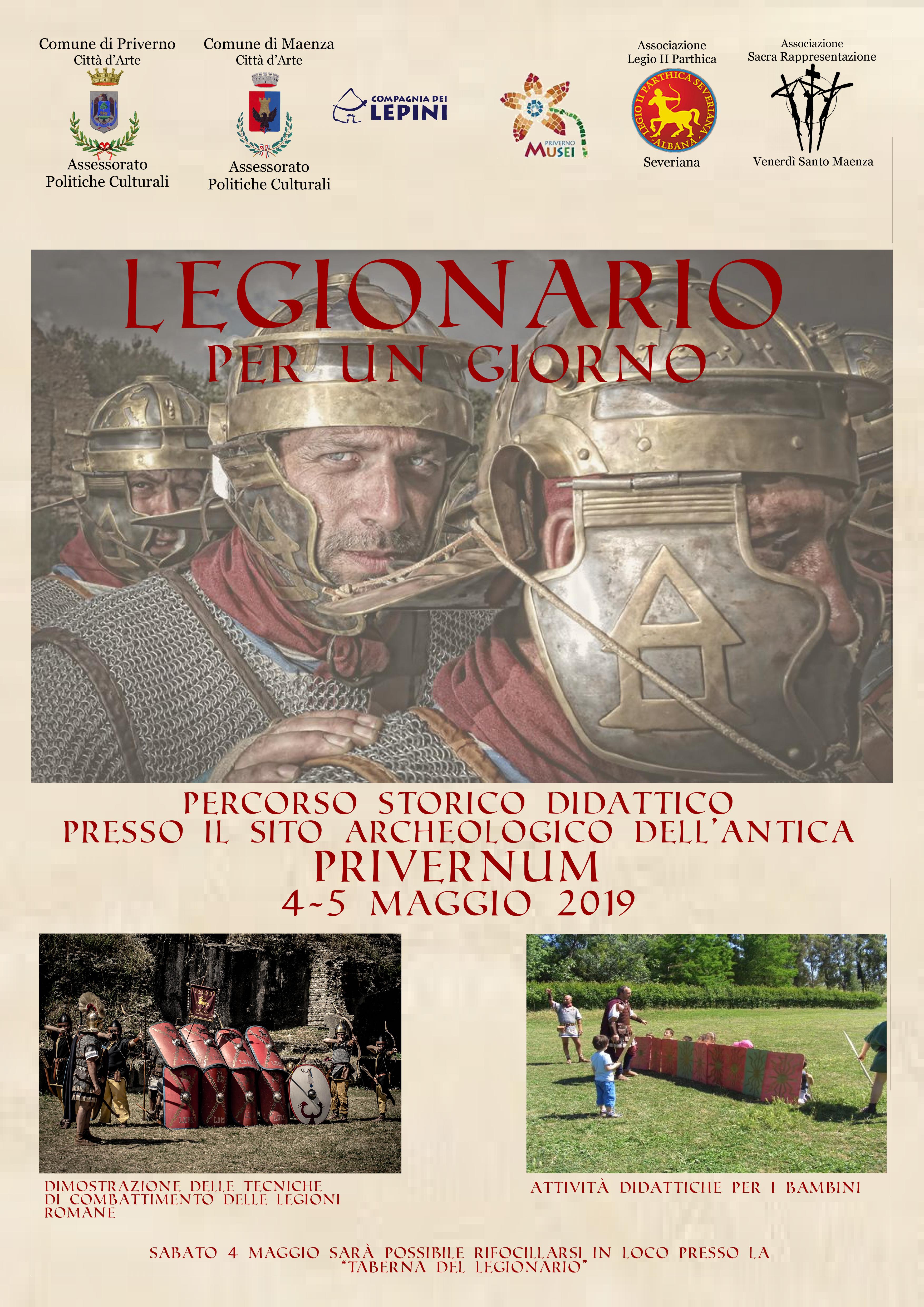 Priverno: Legionario per un giorno @ sito archeologico | Priverno | Lazio | Italia