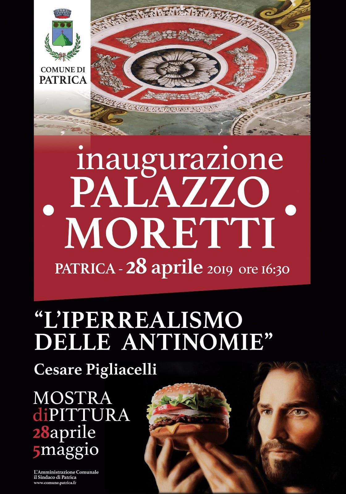 Patrica: Inaugurazione Palazzo Moretti @ palazzo moretti | Patrica | Lazio | Italia