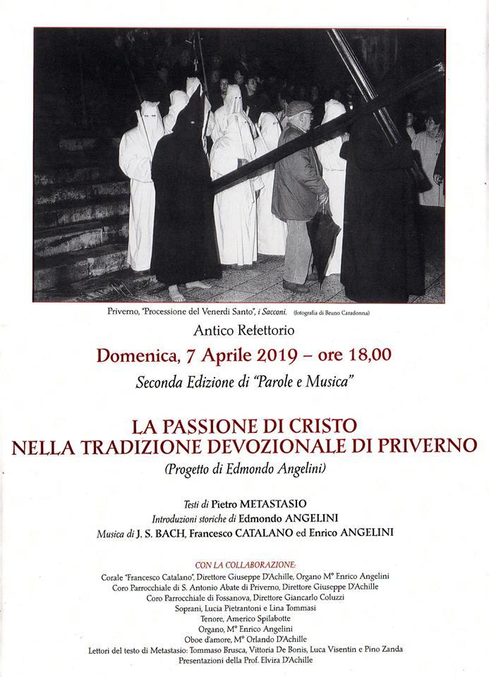 Priverno: La passione di Cristo nella tradizione devozionale di Priverno @ antico refettorio | Priverno | Lazio | Italia