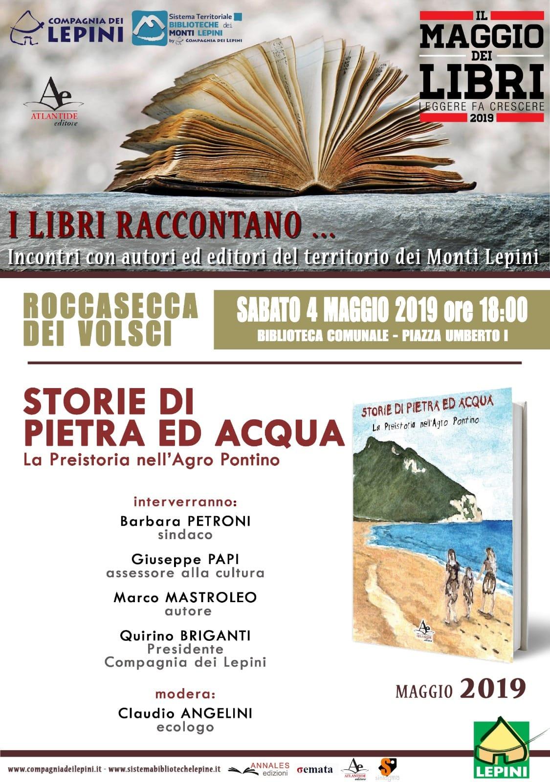 ROCCASECCA DEI VOLSCI, IL MAGGIO DEI LIBRI: STORIE DI PIETRA ED ACQUA @ BIBLIOTECA COMUNALE | Roccasecca | Lazio | Italia