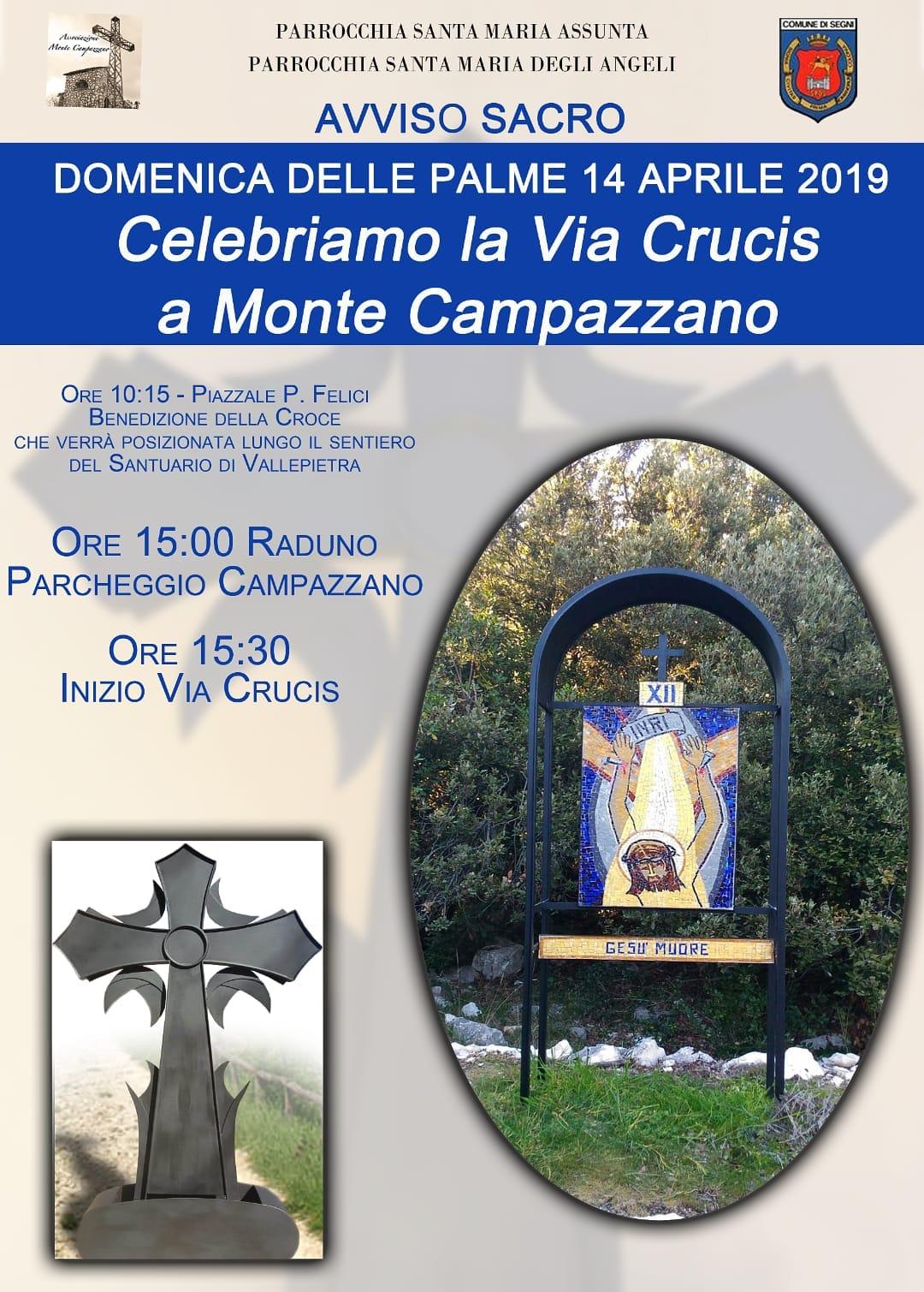 Segni: Celebriamo la Via Crucis a Monte Campazzano @ piazzale P. Felici | Lazio | Italia