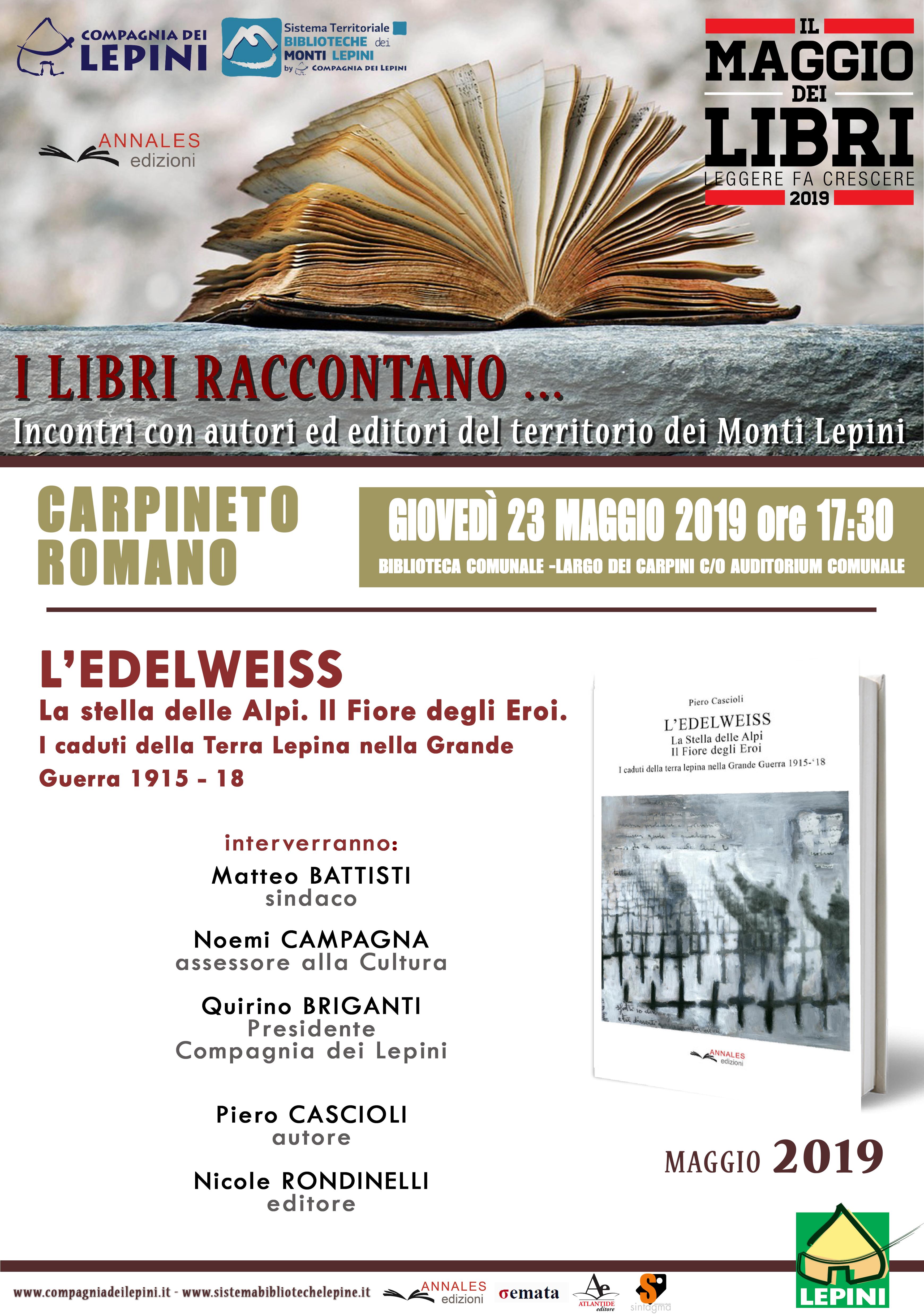 Carpineto Romano: Il Maggio dei libri @ Biblioteca comunale  | Carpineto Romano | Lazio | Italia