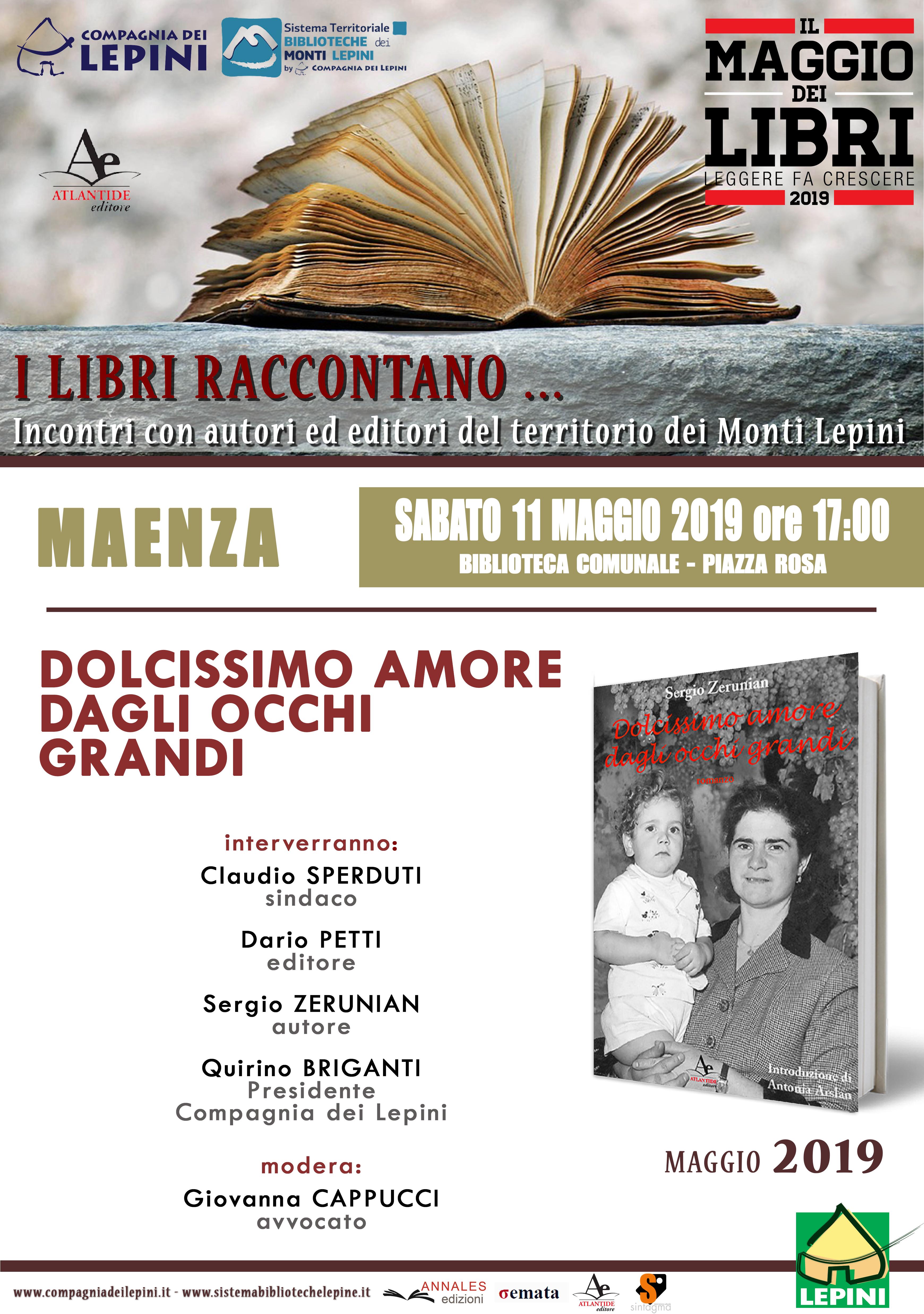 Maenza, Il maggio dei libri: Dolcissimo amore dagli occhi grandi @ Biblioteca comunale - piazza rosa | Maenza | Lazio | Italia