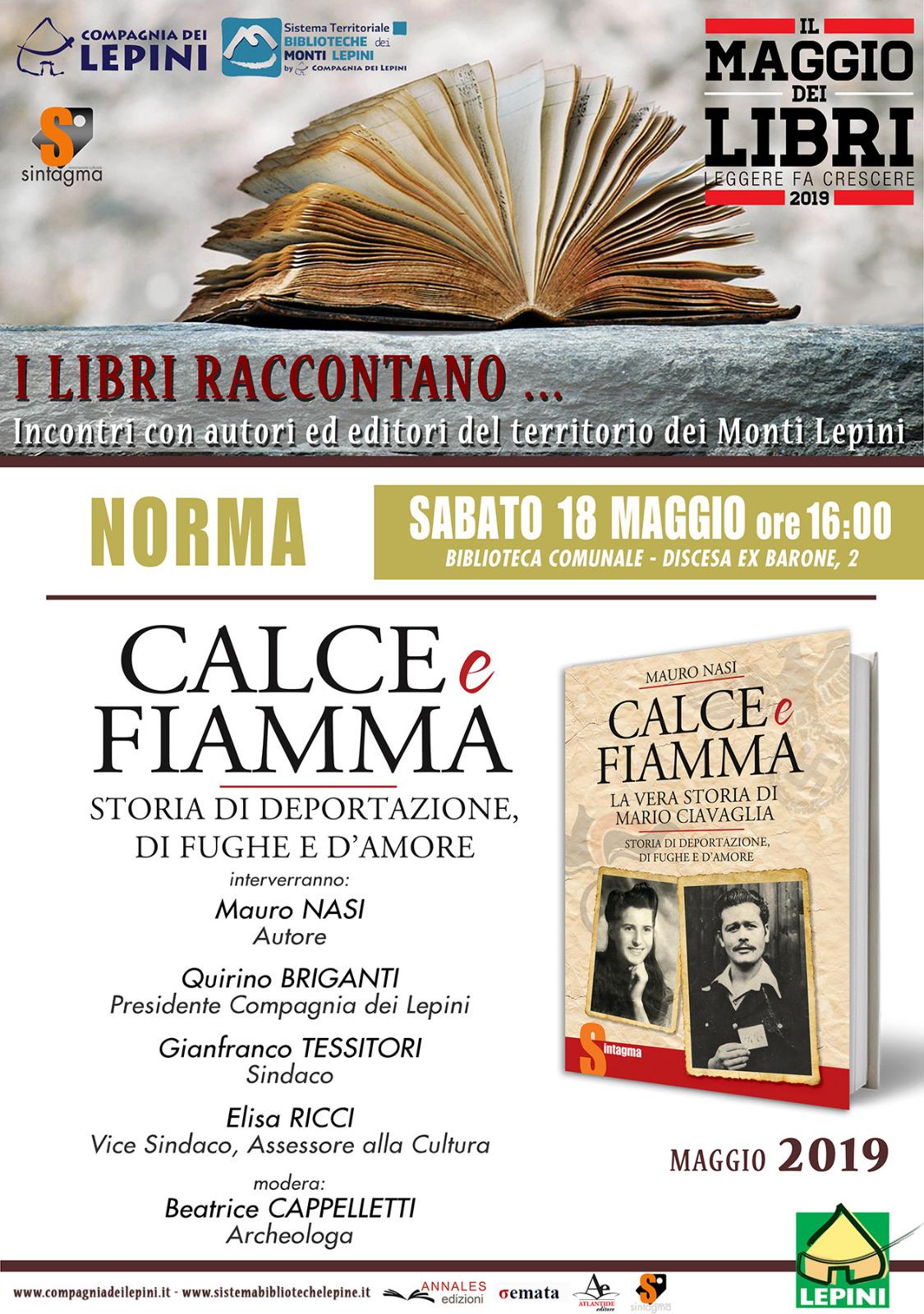 NORMA, IL MAGGIO DEI LIBRI: CALCE E FIAMMA @ Biblioteca Comunale | Norma | Lazio | Italia