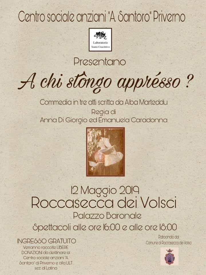Roccasecca dei Volsci: A chi stongo apprésso? @ Palazzo baronale | Roccasecca dei Volsci | Lazio | Italia